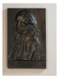 Plaque Titled &quot;Washington at Valley Forge&quot; Made of Bronze with Profile of George Washington Giclee Print by James Wehn
