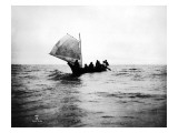 Whaling Canoe, 1910 Giclee Print by Asahel Curtis