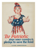 """Be Patriotic: Sign Your Country's Pledge to Save the Food"", 1918 Premium Giclee Print by Paul Stahr"