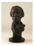 Bust Made of Plaster with Wood Base Depicts Captain Robert Gray Giclee Print by James Wehn