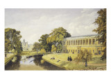 Trinity College at Cambridge University Giclee Print by Bradford Rudge