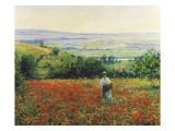 In the Poppy Field Giclée-Druck von Leon Giran-max