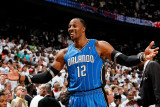 Orlando Magic v Atlanta Hawks - Game Three, Atlanta, GA - APRIL 22: Dwight Howard Photographic Print by Kevin Cox