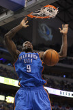 Oklahoma City Thunder v Dallas Mavericks - Game One, Dallas, TX - MAY 17: Serge Ibaka Photographic Print by Ronald Martinez