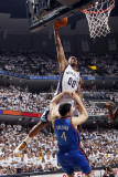 Oklahoma City Thunder v Memphis Grizzlies - Game Six, Memphis, TN - MAY 13: Darrell Arthur and Nick Photographic Print by Layne Murdoch