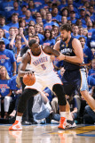 Memphis Grizzlies v Oklahoma City Thunder - Game Seven, Oklahoma City, OK - MAY 15: Kendrick Perkin Photographic Print by Joe Murphy