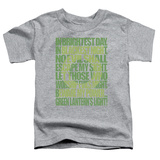 Toddler: Green Lantern - Green Lantern Oath T-shirts