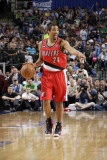 Portland Trail Blazers v Dallas Mavericks - Game One, Dallas, TX - APRIL 16: Andre Miller Photographic Print by Danny Bollinger