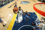 Oklahoma City Thunder v Memphis Grizzlies - Game Six, Memphis, TN - MAY 13: O.J. Mayo, James Harden Photographic Print by Joe Murphy