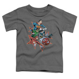 Toddler: Justic League America - Starburst T-Shirt