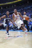 Memphis Grizzlies v Oklahoma City Thunder - Game One, Oklahoma City, OK - MAY 1: Kevin Durant and T Photographic Print by Layne Murdoch