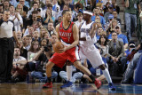 Portland Trail Blazers v Dallas Mavericks - Game One, Dallas, TX - APRIL 16: Brandon Roy and Jason  Photographic Print by Danny Bollinger