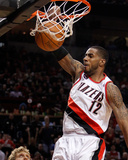 Dallas Mavericks v Portland Trail Blazers - Game Three, Portland, OR - APRIL 21: LaMarcus Aldridge Photographic Print by Jonathan Ferrey