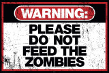 Zombie Warning Julisteet