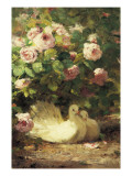 Two Doves Giclee Print by Alphonse Muraton