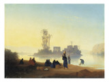 View of the Island of Philae in Egypt Giclee Print by Charles Theodore Frere