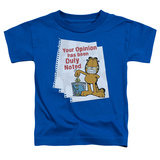 Toddler: Garfield - Duly Noted T-Shirt