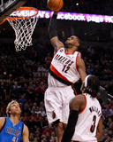 Dallas Mavericks v Portland Trail Blazers - Game Three, Portland, OR - APRIL 21: LaMarcus Aldridge Photographie par Jonathan Ferrey