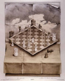 Folded Chess Set Posters