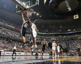 San Antonio Spurs v Memphis Grizzlies - Game Six, Memphis, TN - APRIL 29: Manu Ginobili and Sam You Photographic Print by Joe Murphy