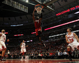 Miami Heat v Chicago Bulls - Game Two, Chicago, IL - MAY 18: Dwyane Wade Photographic Print by Jonathan Daniel