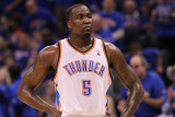 Memphis Grizzlies v Oklahoma City Thunder - Game Seven, Oklahoma City, OK - MAY 15: Kendrick Perkin Photographic Print by Ronald Martinez