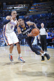 Memphis Grizzlies v Oklahoma City Thunder - Game One, Oklahoma City, OK - MAY 1: Mike Conley and Ru Photographic Print by Layne Murdoch
