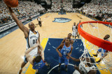 Oklahoma City Thunder v Memphis Grizzlies - Game Six, Memphis, TN - MAY 13: Darrell Arthur, Nick Co Photographic Print by Joe Murphy
