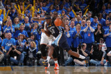 Memphis Grizzlies v Oklahoma City Thunder - Game One, Oklahoma City, OK - MAY 1: Zach Randolph and  Photographic Print by Joe Murphy