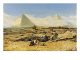 A Prayer by the Sphinx Giclee Print by Marius Alexander Bauer