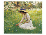 Flower Meadow Giclee Print by Arthur Hacker