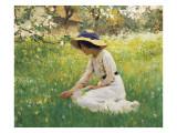 Flower Meadow Giclee Print by Arthur Hacker