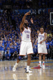 Memphis Grizzlies v Oklahoma City Thunder - Game Seven, Oklahoma City, OK - MAY 15 : James Harden a Photographic Print by Layne Murdoch
