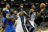 Oklahoma City Thunder v Memphis Grizzlies - Game Six, Memphis, TN - MAY 13: Russell Westbrook, Kend Photographic Print by Kevin Cox