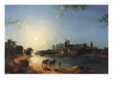 Windsor Castle by Moonlight Giclee Print by Henry Pether