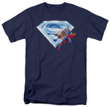 Superman - Superman & Crystal Logo Shirt