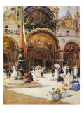 The Basilica Di San Marco Giclee Print by Fernand-marie-eugene Legout-gerard
