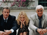 Jean-Paul Belmondo, Alain Delon, Vanessa Paradis: Une chance sur deux, 1998 Fotodruck von Patrick Camboulive