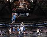 Oklahoma City Thunder v Dallas Mavericks - Game One, Dallas, TX - MAY 17: Russell Westbrook and Jas Photographic Print by Danny Bollinger