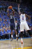 Memphis Grizzlies v Oklahoma City Thunder - Game One, Oklahoma City, OK - MAY 1: Zach Randolph and  Photographic Print by Layne Murdoch
