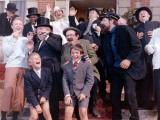 Georges Wilson, Georges Loriot, Jean-Pierre Talbot et Jean Bouise : Tintin et Les Oranges Bleues Papier Photo par Marcel Dole