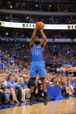 Oklahoma City Thunder v Dallas Mavericks - Game One, Dallas, TX - MAY 17: James Harden Photographic Print by Noah Graham