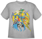 Toddler: DC Comics - Spin Circle Fight T-shirts