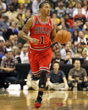 Chicago Bulls v Indiana Pacers - Game Three, Indianapolis, IN - APRIL 21: Derrick Rose Photographic Print by Andy Lyons