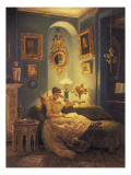 An Evening at Home Giclee Print by Edward John Poynter