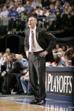 Portland Trail Blazers v Dallas Mavericks - Game One, Dallas, TX - APRIL 16: Rick Carlisle Photographic Print by Glenn James