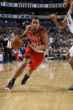 Portland Trail Blazers v Dallas Mavericks - Game One, Dallas, TX - APRIL 16: Andre Miller and Tyson Photographic Print by Danny Bollinger