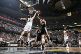 San Antonio Spurs v Memphis Grizzlies - Game Six, Memphis, TN - APRIL 29: Tiago Splitter and Marc G Photographic Print by Joe Murphy