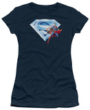 Juniors: Superman - Superman & Crystal Logo T-Shirt