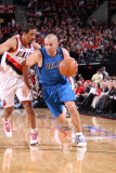 Dallas Mavericks v Portland Trail Blazers - Game Three, Portland, OR - APRIL 21: Jason Kidd and And Photographic Print by Sam Forencich